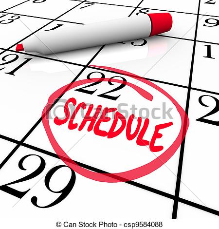 Schedule Word Circled On Clipart Panda