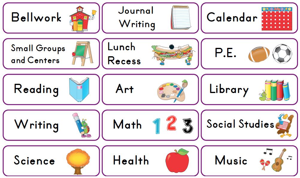 Class Schedule Clipart 1 – Class Schedule