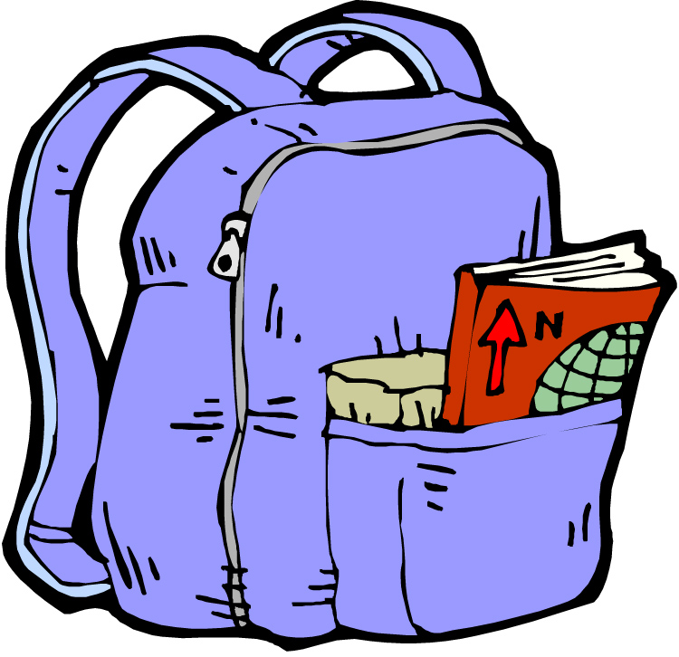 Put Away Clothes In Spanish ~ School backpack clipart panda free images