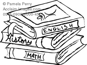 school%20books%20clipart%20black%20and%20white