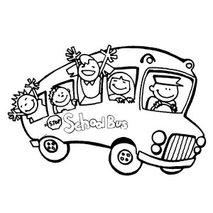 School Bus Coloring Pages Clipart Panda Free Clipart