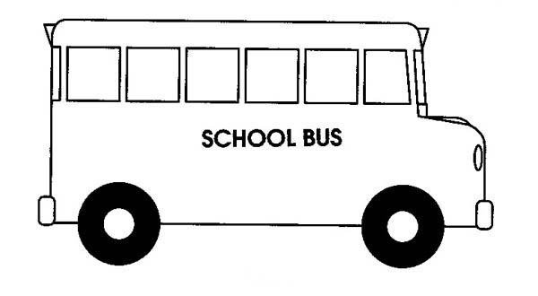 school bus coloring page  Coloring Pages For Kids and All Ages