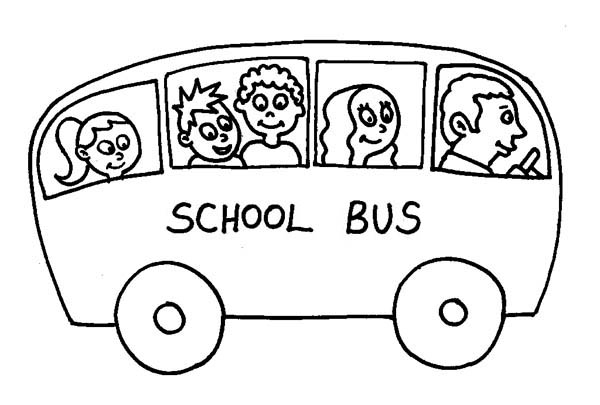 School Bus Driver Coloring Page  Clipart Panda  Free Clipart Images