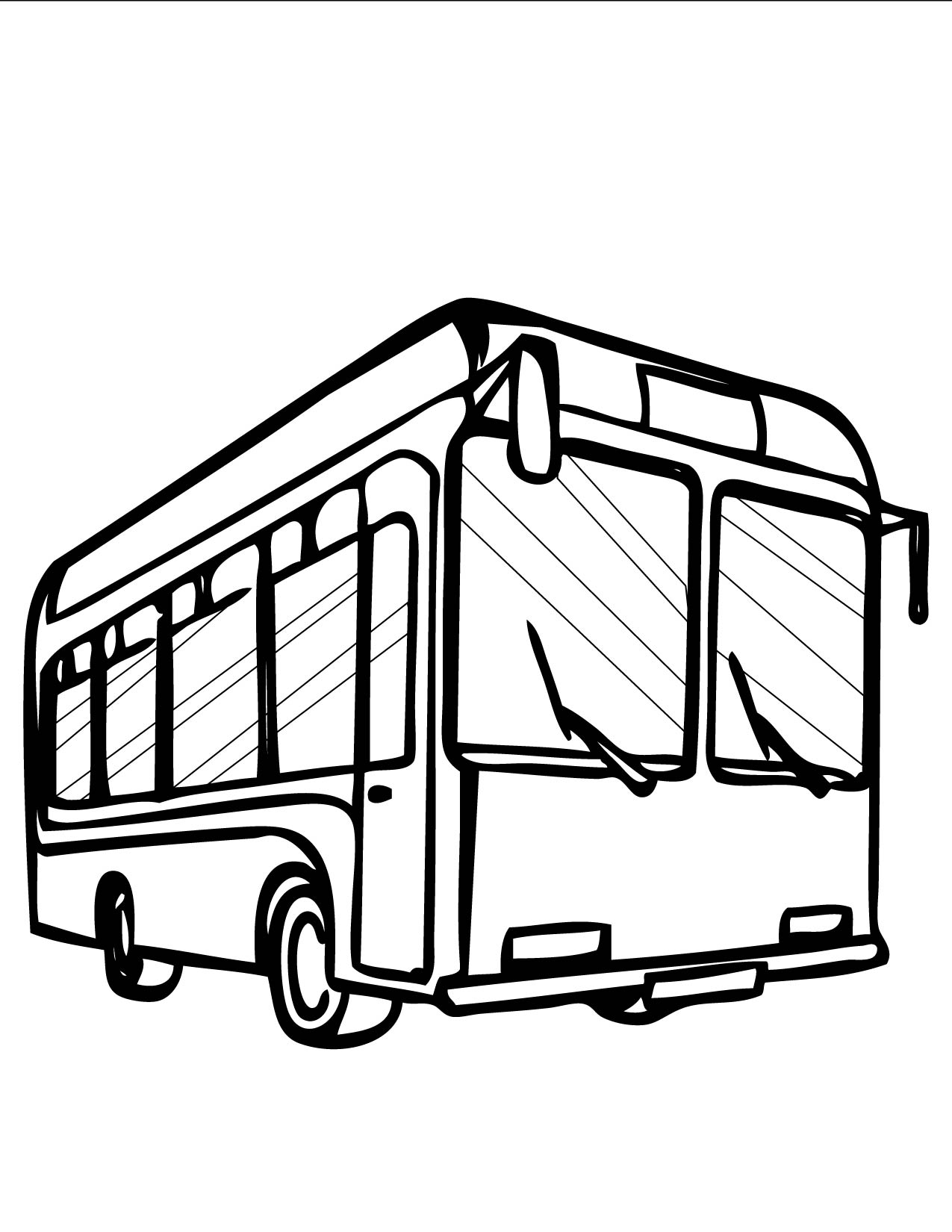 bus coloring pages - photo#23