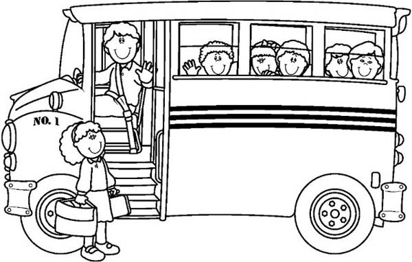 Magic School Bus Coloring Page | Clipart Panda - Free ...