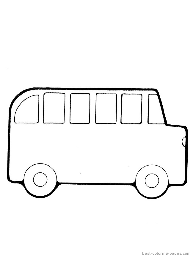 School Bus Driver Coloring Page Clipart Panda Free