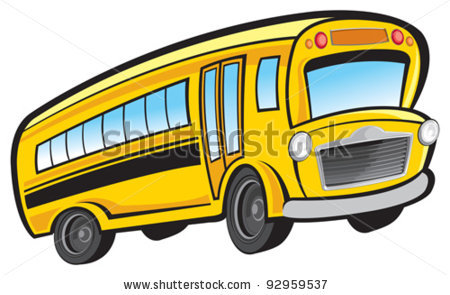school-bus-driver-clipart-cartoon school bus in a vector clip art    School Bus Conductor