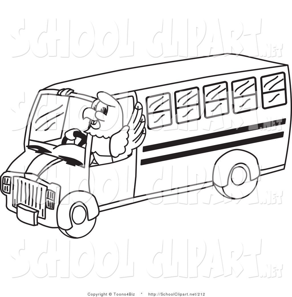 school bus clip art black and white | clipart panda - free clipart