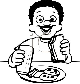 Healthy Food Clipart Black And White   Clipart Panda ...