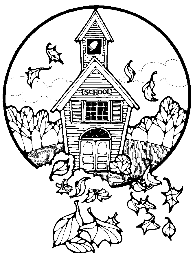 school house coloring page clipart panda free clipart images - School House Coloring Page