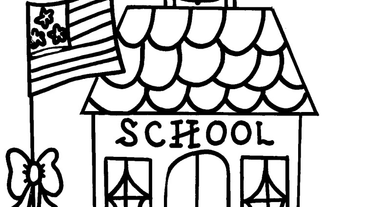 School House Coloring Page Clipart Panda Free Clipart School House Coloring Pages
