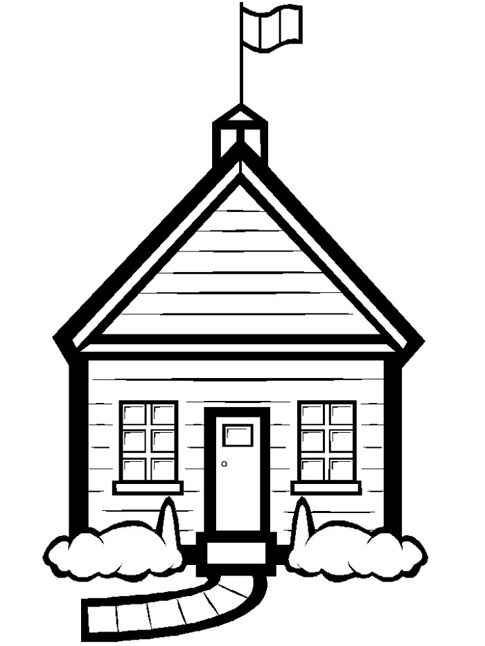 School house coloring page clipart panda free clipart for Schoolhouse coloring pages