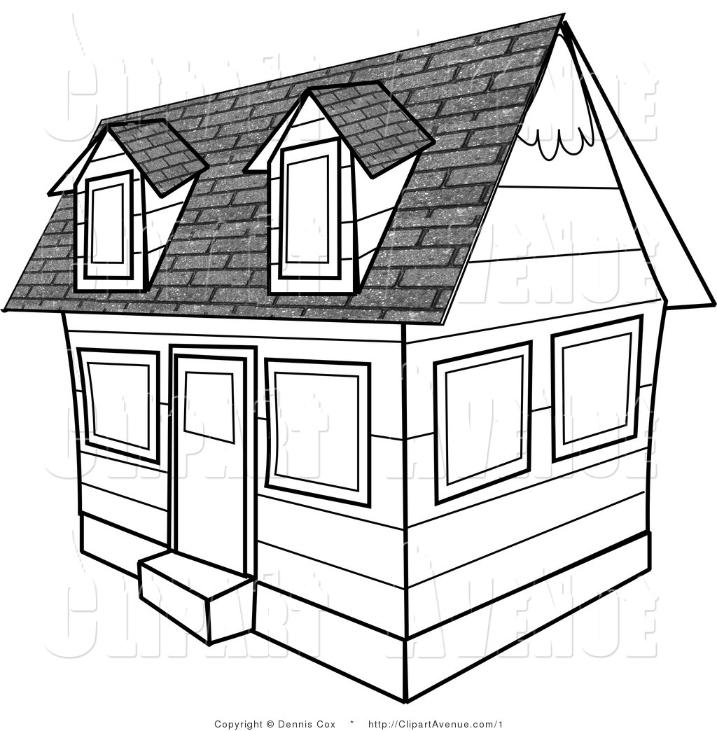 Construction house clip art black and white clipart for Free home builder