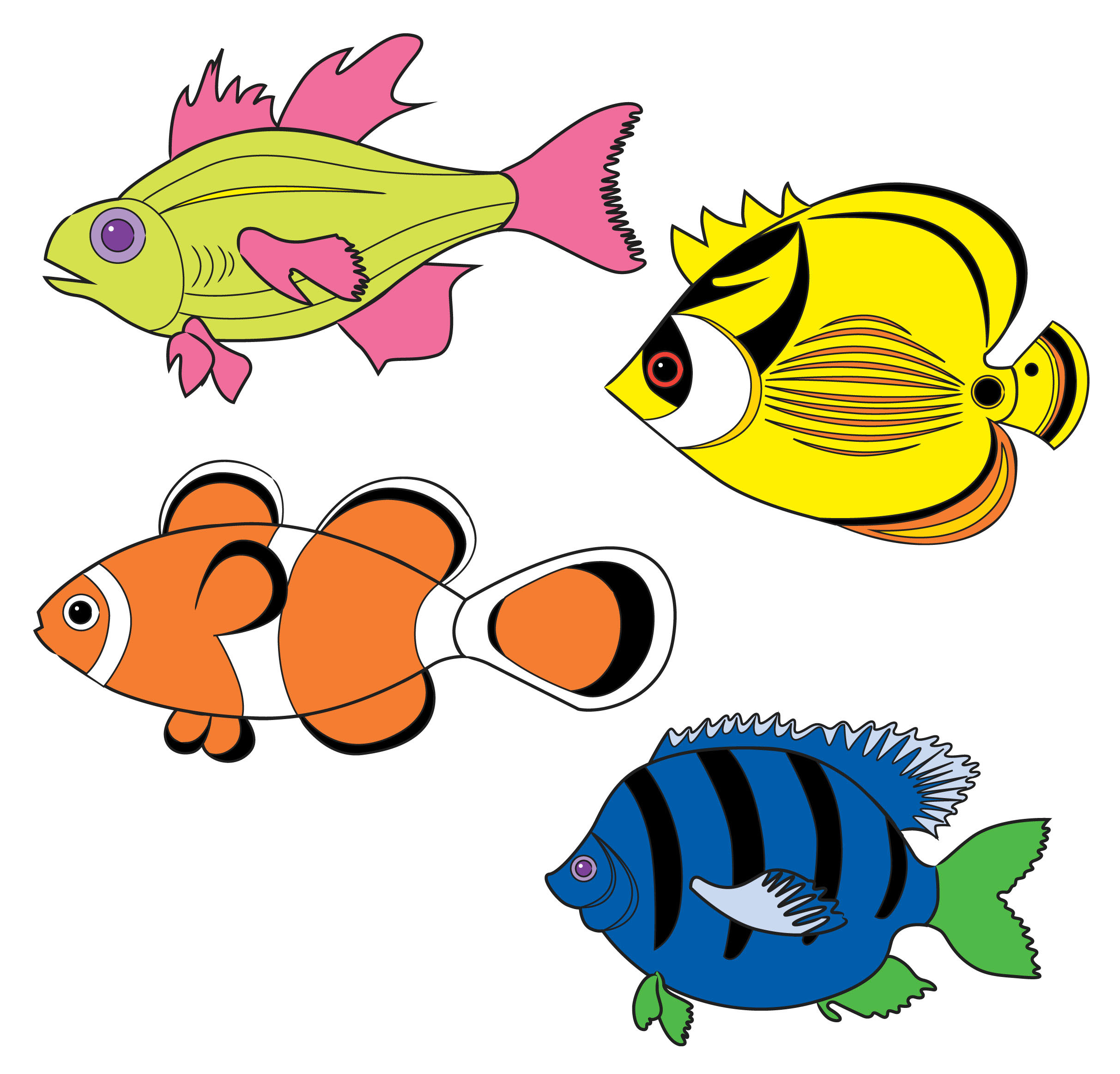 school of fish drawing clipart panda free clipart images