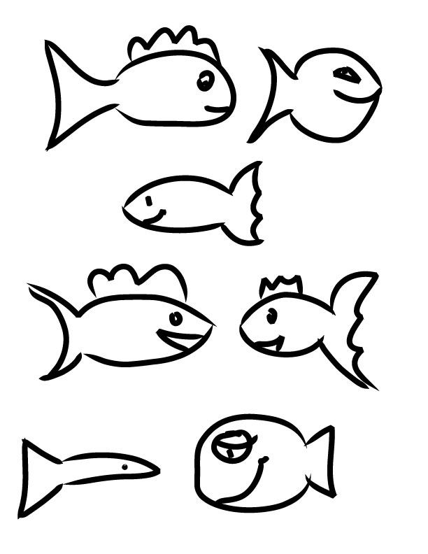Drawings of fish for kids