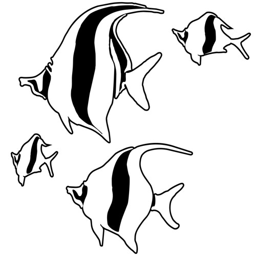 School Fish Drawing School of Fish Drawing