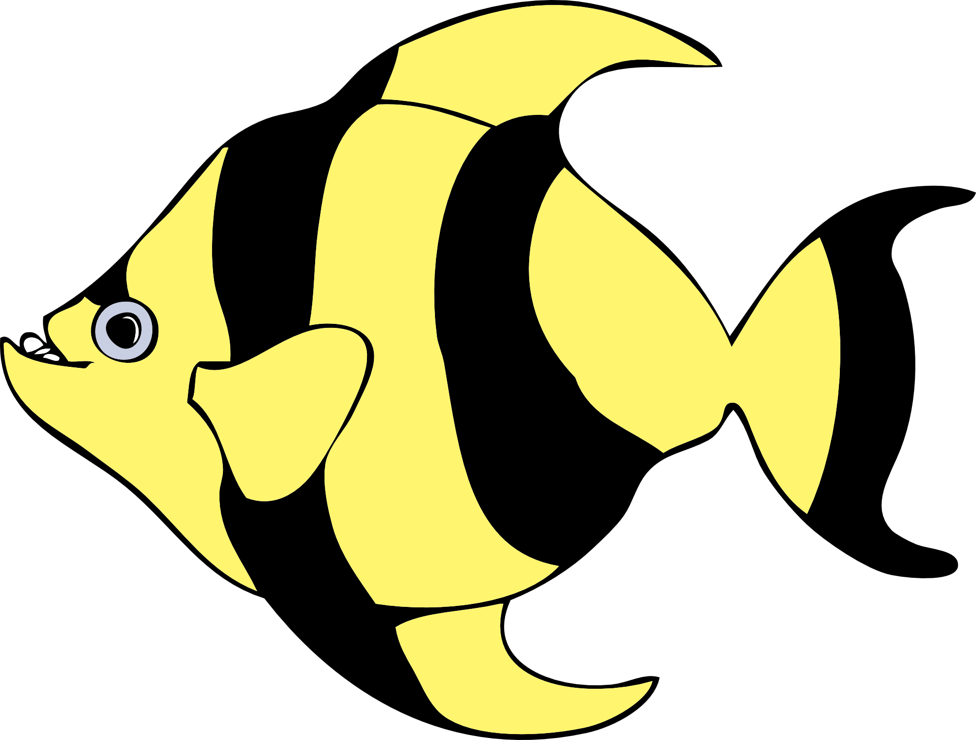 Tropical Fish Clip Art Black And White
