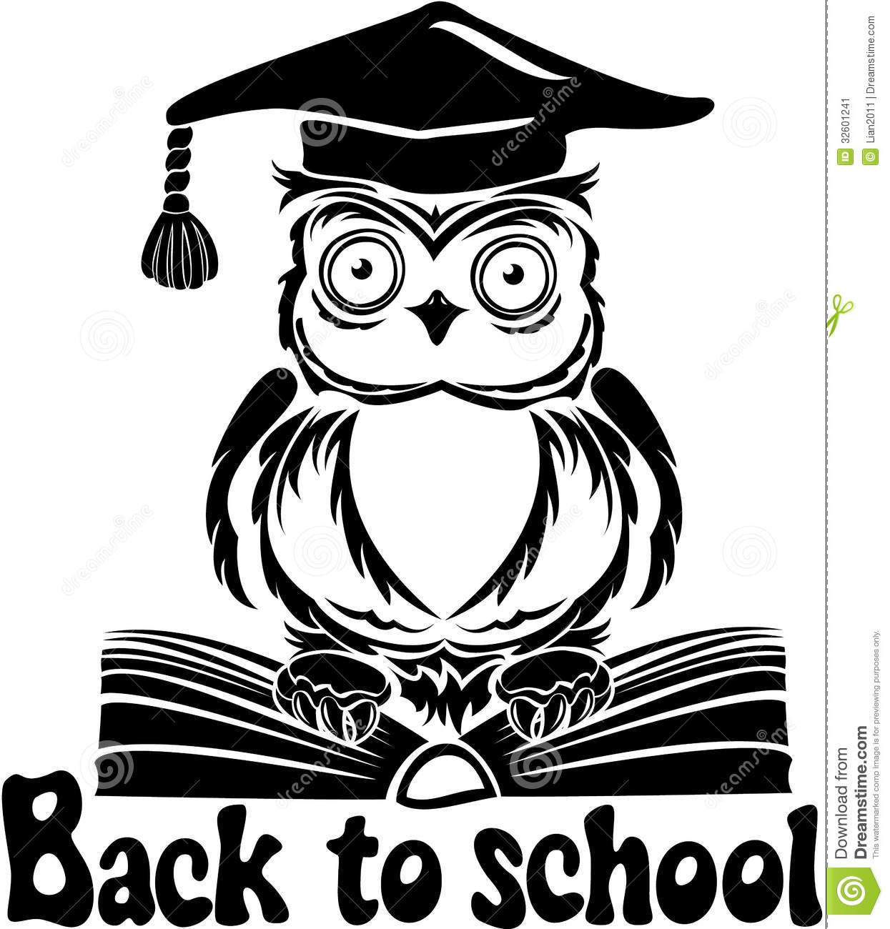 The gallery for --> Owl Graduation Clipart Black And White