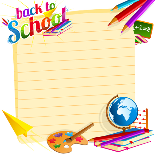 School Supplies Borders And Frames | Clipart Panda - Free ...