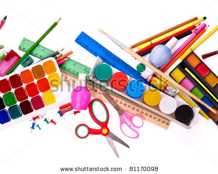 School Supplies Background | Clipart Panda - Free Clipart Images