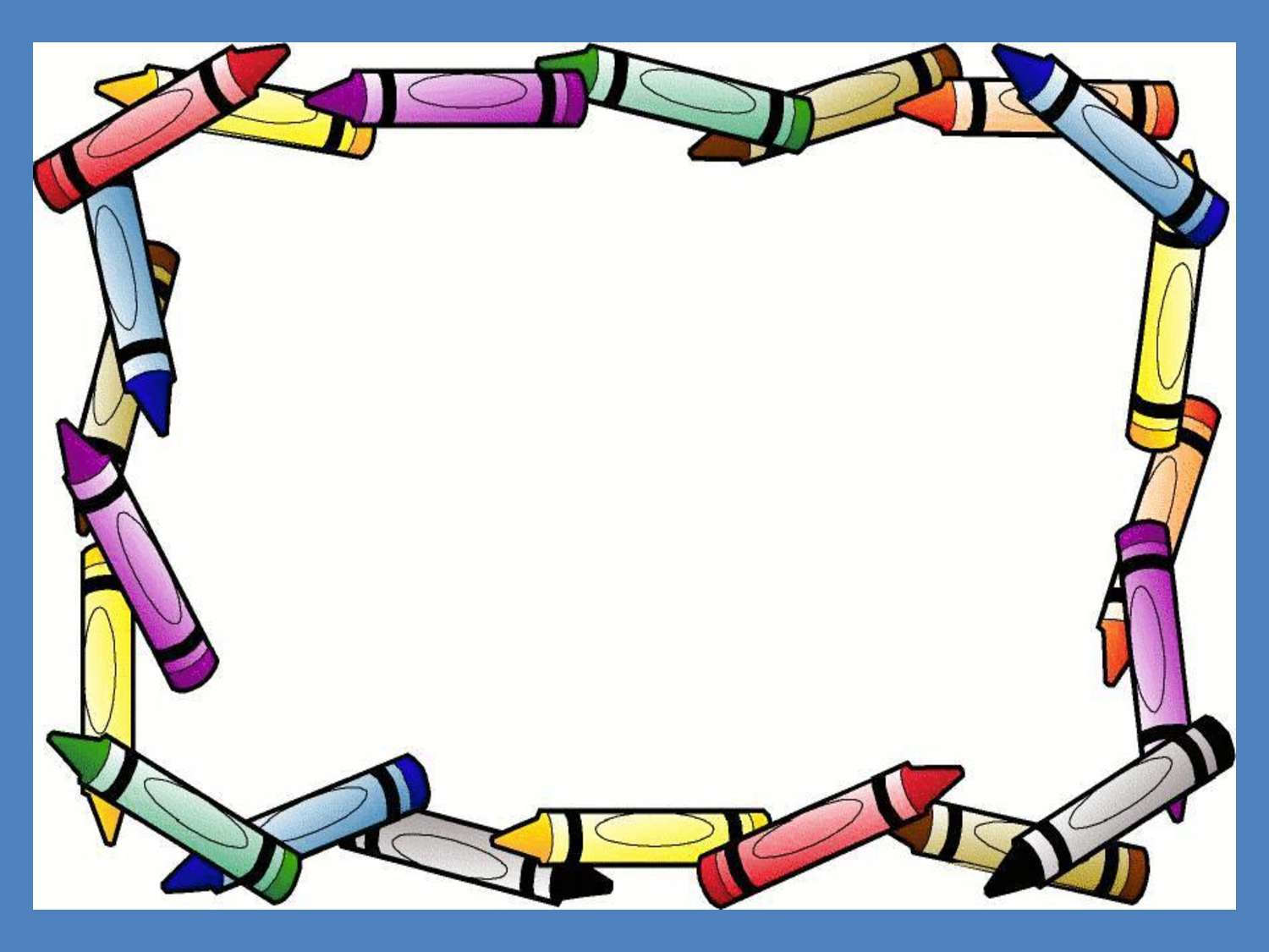school supplies border food borders and frames borders frames crayon ...
