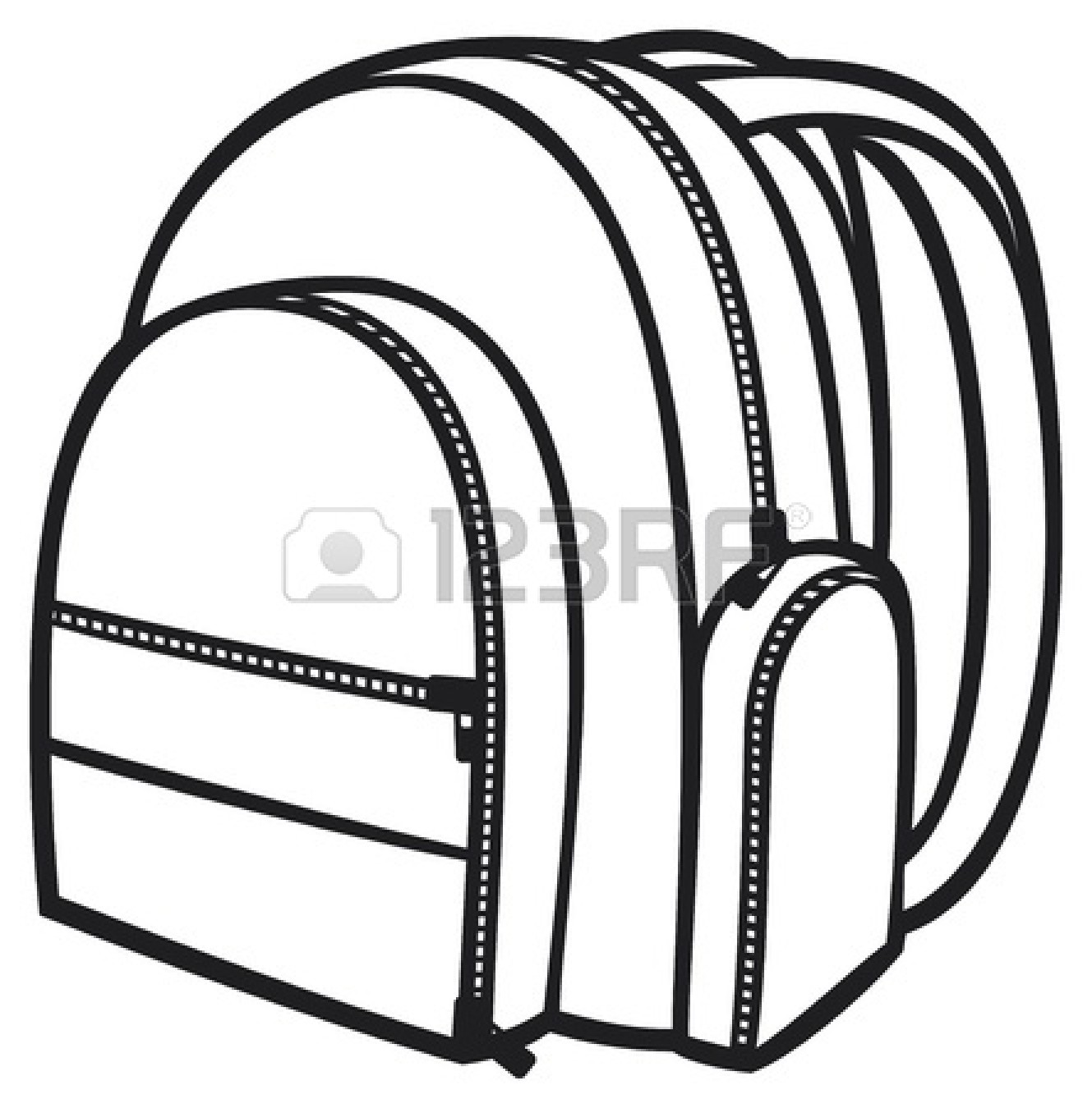 ... -clipart-black-and-white-18661617-bag-pack-backpack-school-bag.jpg