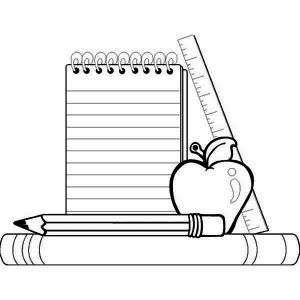 free art supply coloring pages | School Supplies Coloring Pages | Clipart Panda - Free ...