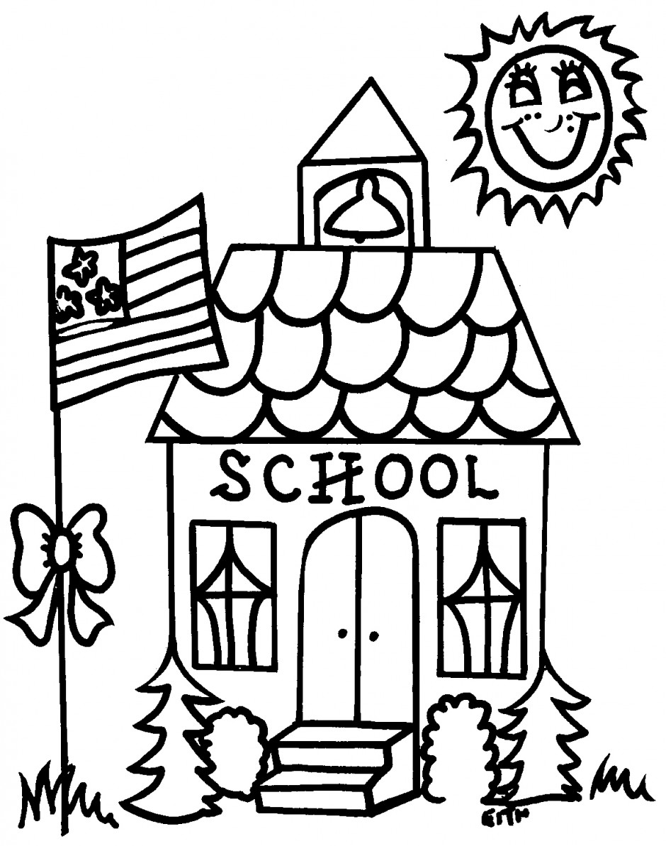 Free coloring pages of school supplies