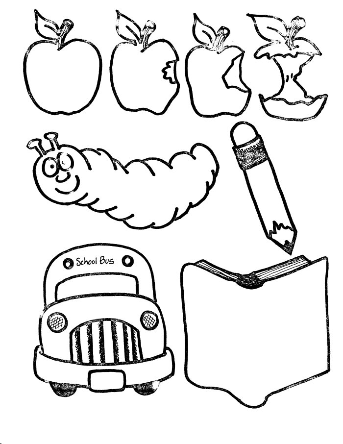 school supply coloring pages - School Coloring Sheets