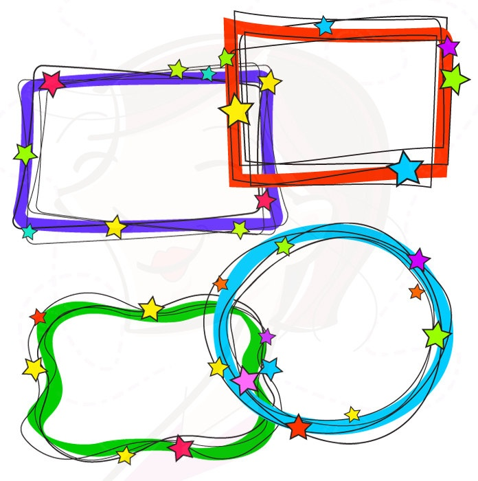 school supplies borders and frames clipart panda free