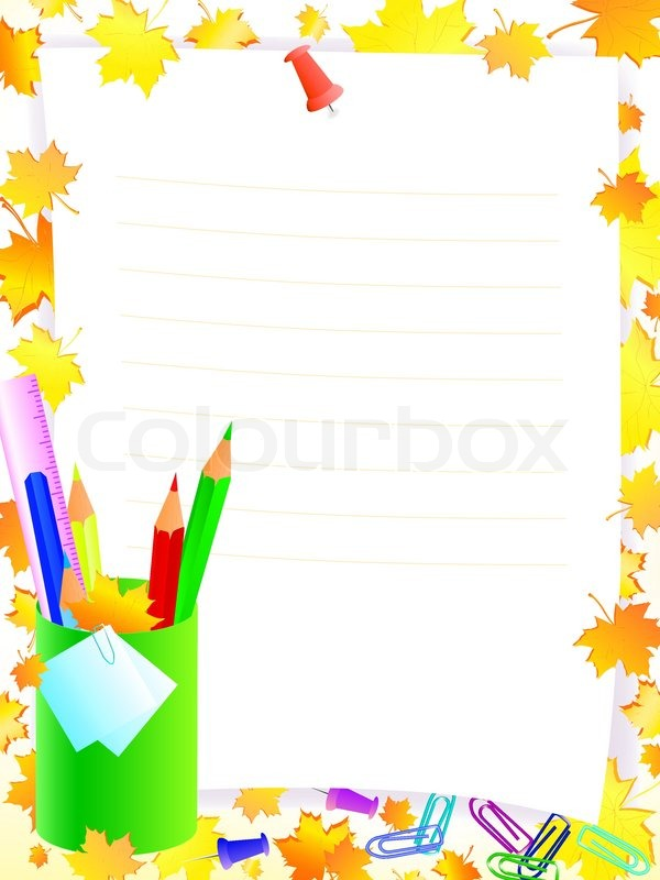 School Supplies Frame Clipart Panda Free Clipart Images