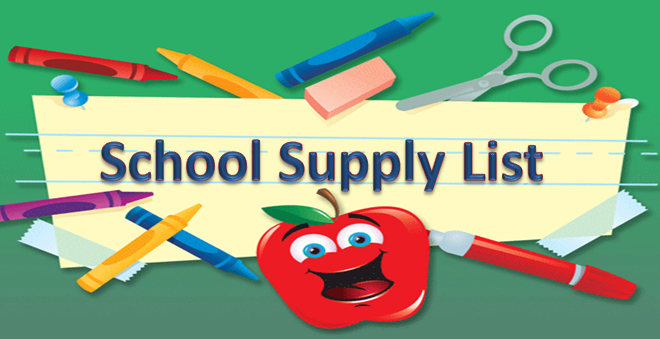 Free Back To School Supplies Clipart