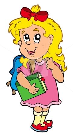 School Girl Clip Art