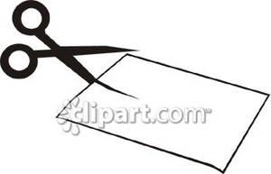 Scissors Cutting Paper Clipart   Clipart Panda - Free ...