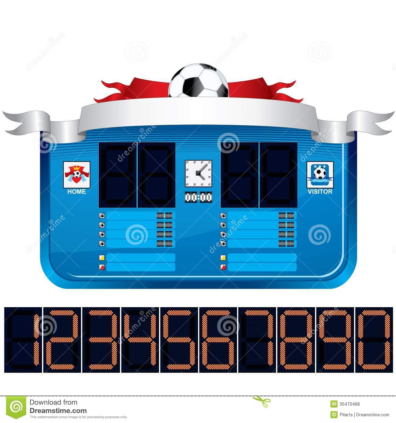 scoreboard clipart clipart panda free clipart images rh clipartpanda com scorecard clip art football scoreboard clipart