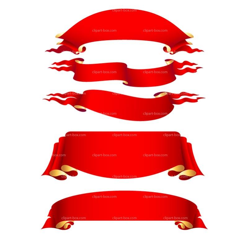 Red banner clip art