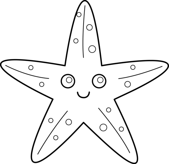 Starfish Coloring Page | Clipart Panda - Free Clipart Images