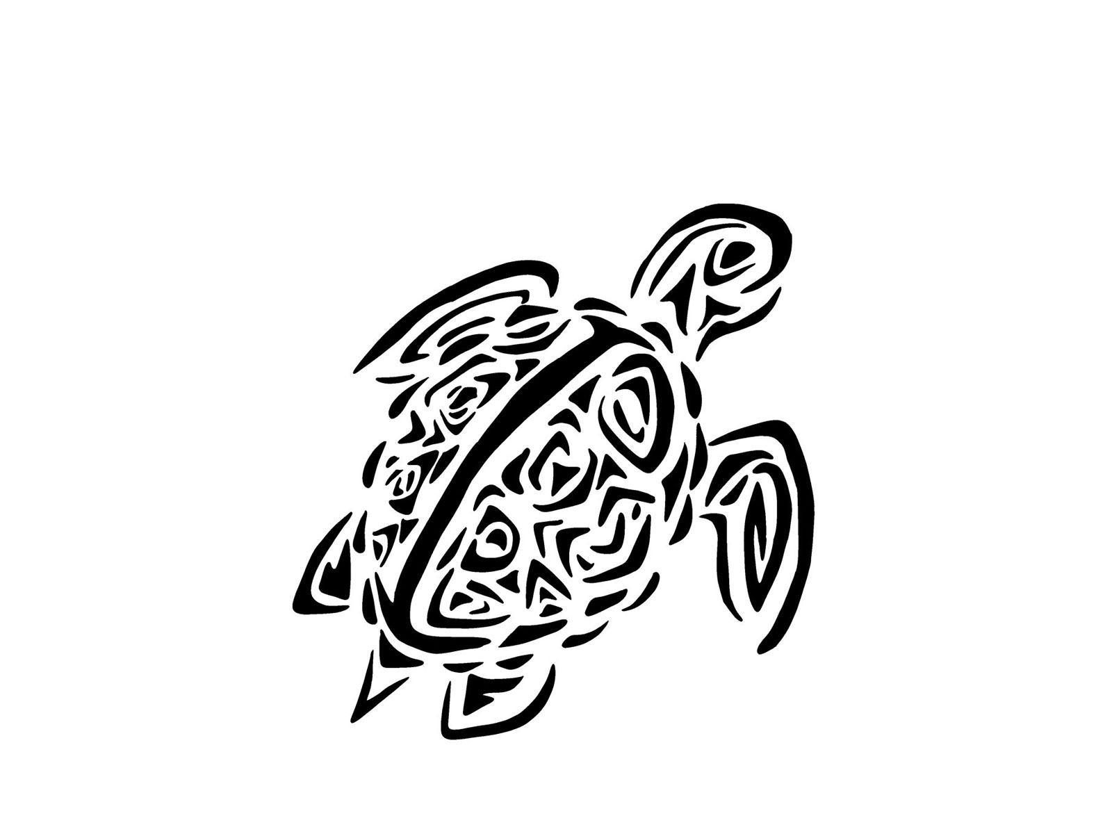 Turtle Line Drawing Tattoo : Sea turtle tribal clipart panda free images