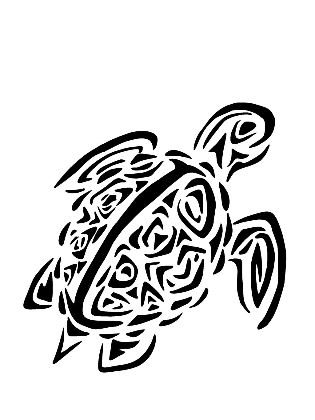 Tribal Sea Turtle Drawing | Amazing Wallpapers