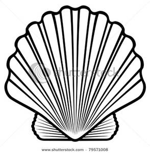 seashell%20clipart%20black%20and%20white