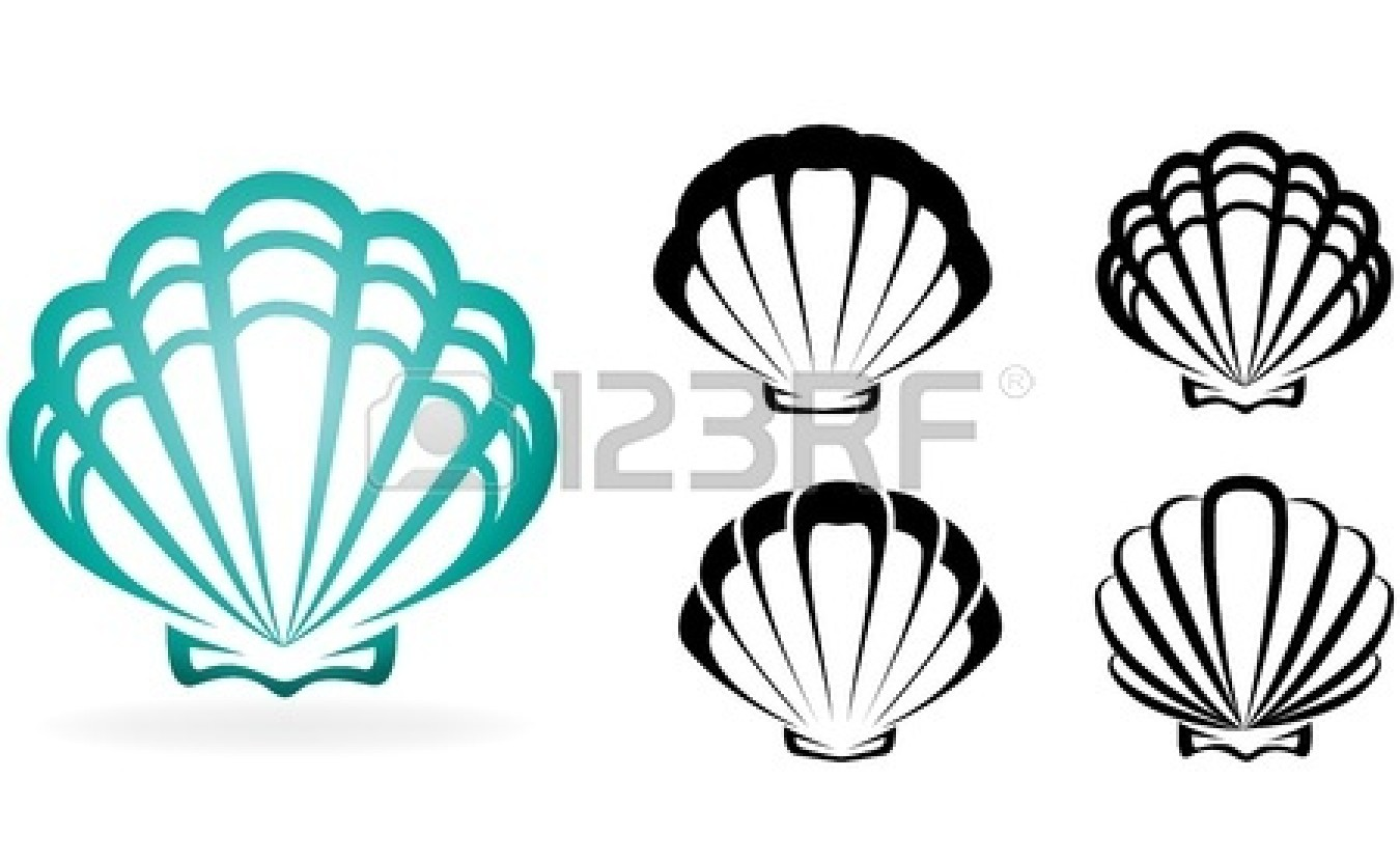 Gallery For > Seashell Silhouette Clipart