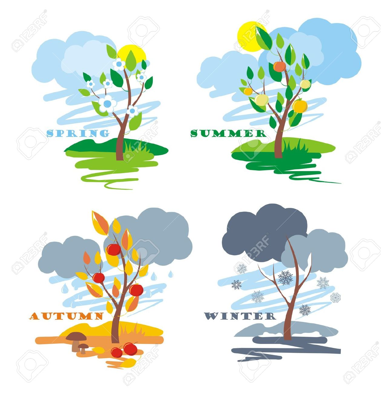 season change: abstract of | Clipart Panda - Free Clipart ...