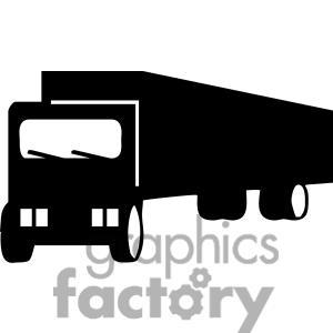 Semi Truck Clipart Black And White | Clipart Panda - Free Clipart ...