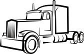 Clip Art Semi Truck Clipart semi truck clipart black and white panda free clip art
