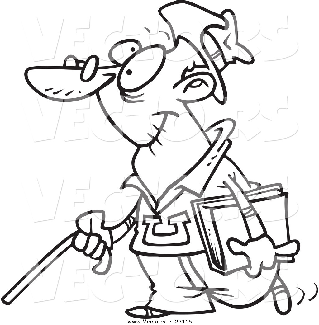 Free coloring pages for the elderly - Senior 20clipart