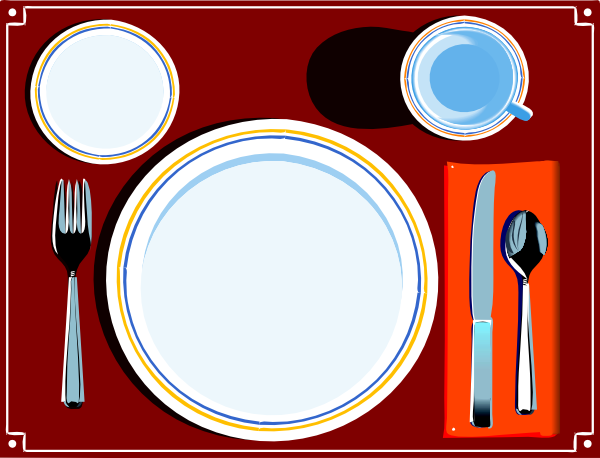 Table Setting Clip Art