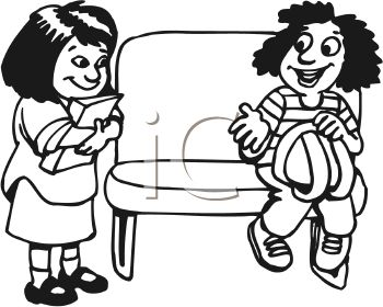 Kids Sharing Clipart Black And White share 20clipart