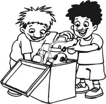 Kids Sharing Clipart Black And White Sharing 20clipa...