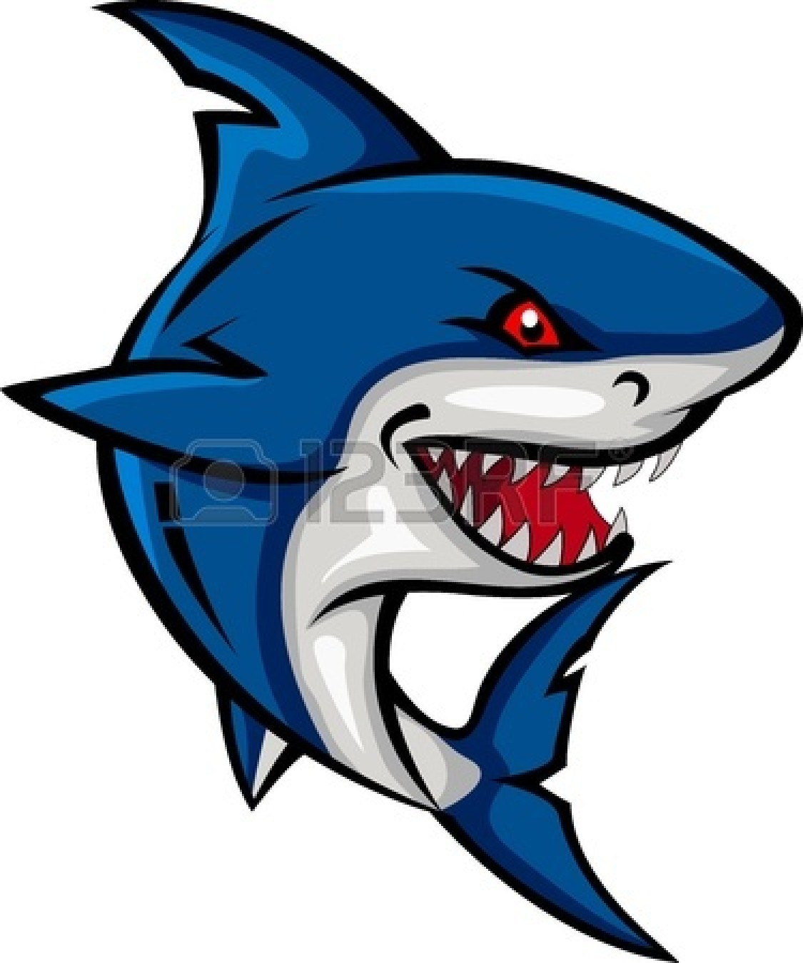Angry shark clipart - photo#4