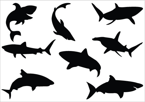 Shark Silhouette Clip Art Pack  Clipart Panda  Free Clipart Images